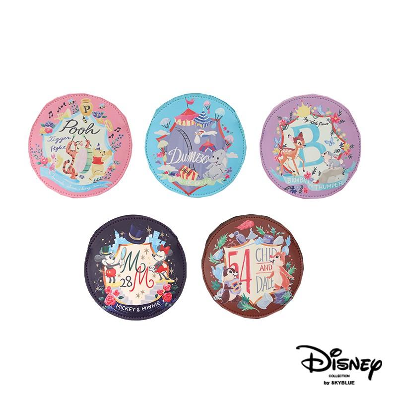 天藍小舖-迪士尼系列快樂時光水彩畫風小圓零錢包-共5色-A09090389