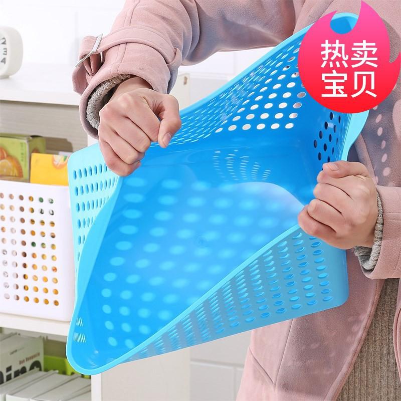 /促銷價/收納大塑料筐收納塑料盒長方形置物框家用塑料框收納廚房塑料籃子