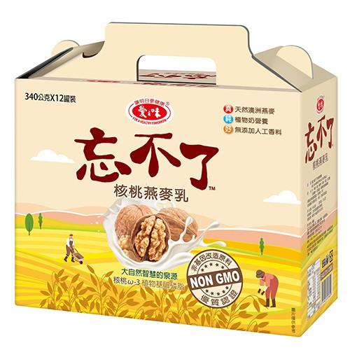 愛之味忘不了核桃燕麥粥340Gx12【愛買】
