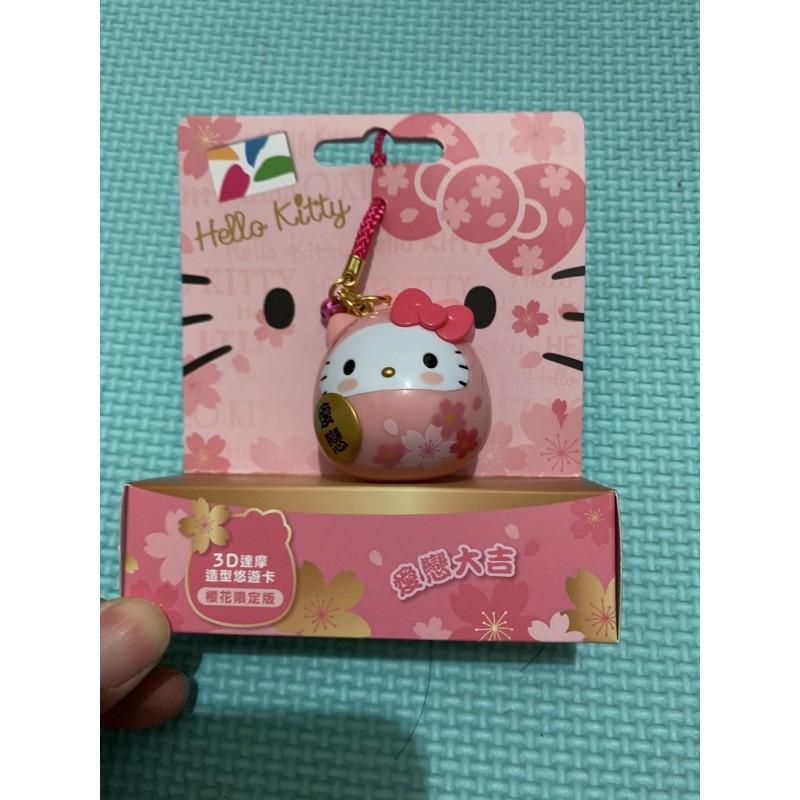 最新Hello Kitty達摩3D造型悠遊卡 櫻花限定版 大蝴蝶結款 許願繪馬