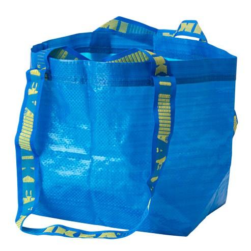 IKEA FRAKTA BRATTBY 購物袋 環保袋 提袋 袋子 塑膠袋 彩虹 彩虹袋子 購物 租屋 通勤