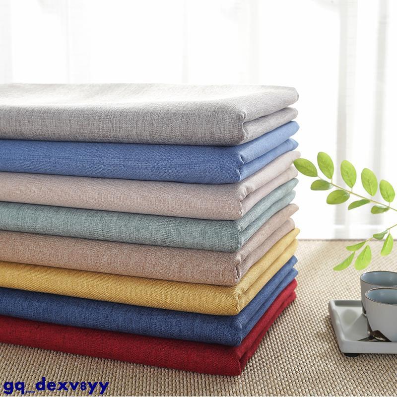 餐桌布藝防水棉麻純色長方形桌墊北歐素色小清新簡約現代茶幾桌布