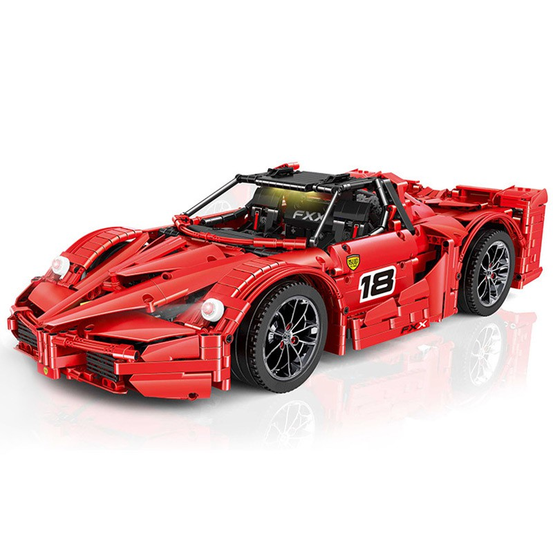 [7-8]兼容樂高8156宇星模王APP遙控Fxx紅色跑車13085拼裝積木玩具21009