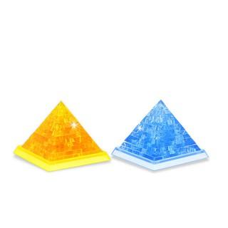 金字塔立體拼圖 兩色可選 自裝3D水晶積木 錐形體拼圖 兒童啟蒙教育 家居擺設