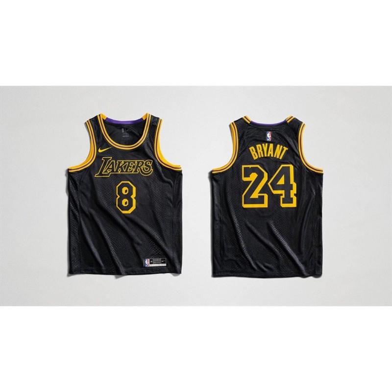 預購) Los Angeles Lakers City Edition Jersey Black Mamba | 蝦皮購物