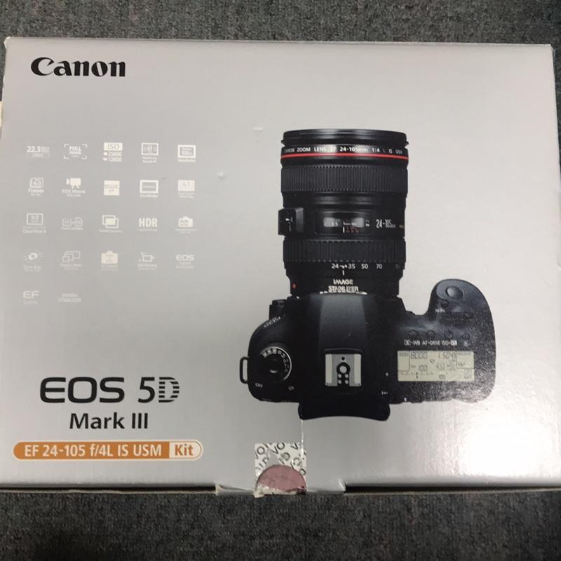 【二手相機】保存良好Canon EOS 5D3機身+24-70mm鏡頭(付箱、背帶、完整防護)