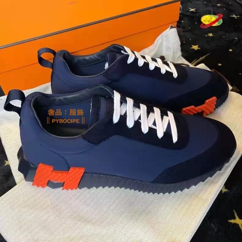 Hermes 愛馬仕 Bouncing 運動鞋 情侶鞋 休閒鞋 H Logo 黑色/深藍