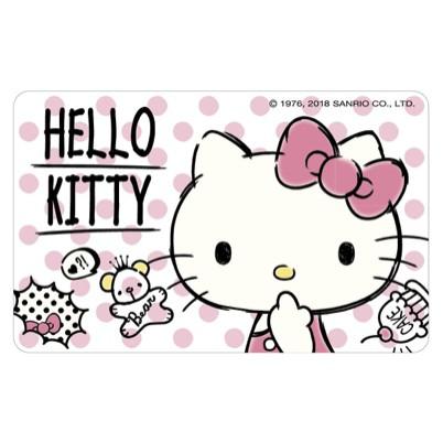 【悠遊卡】HELLO KITTY悠遊卡-透明卡漫畫風