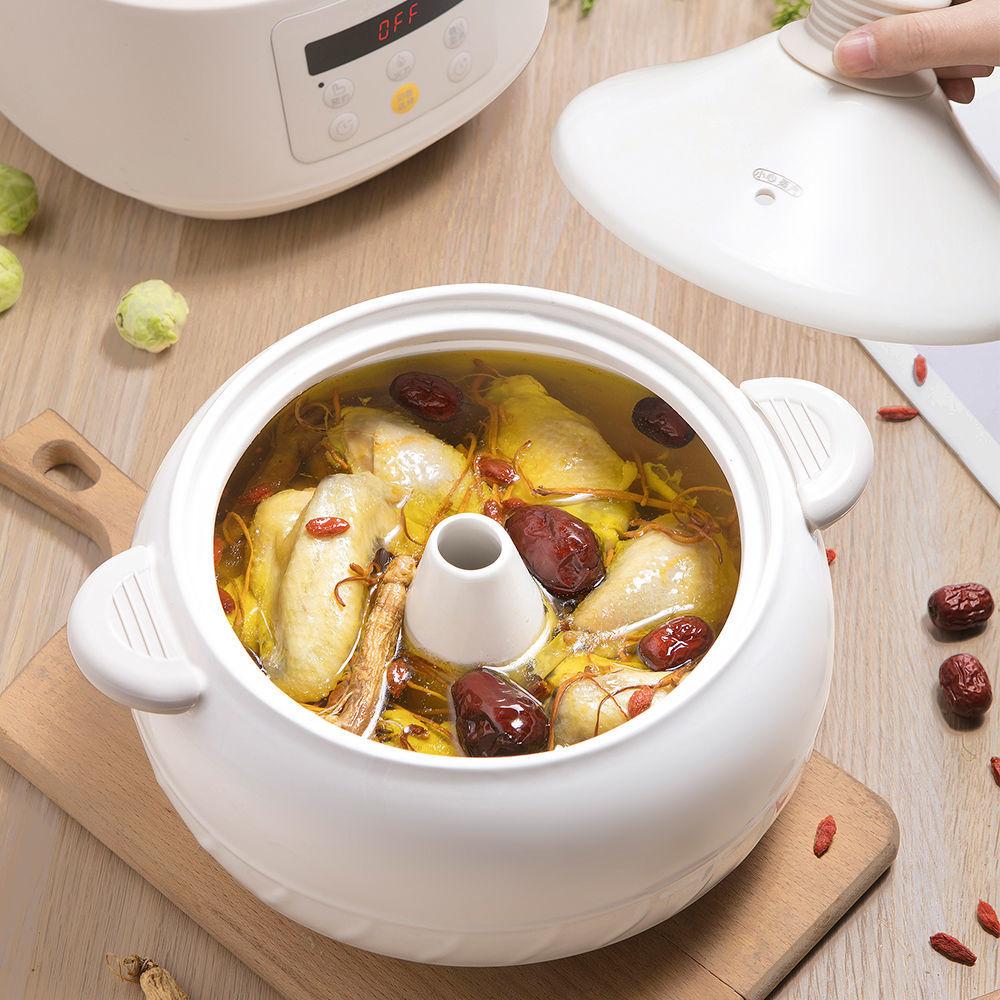 熱賣現貨小熊電汽鍋氣鍋雞家用海鮮蒸汽鍋多功能電燉燉鍋陶瓷隔水燉煲湯鍋