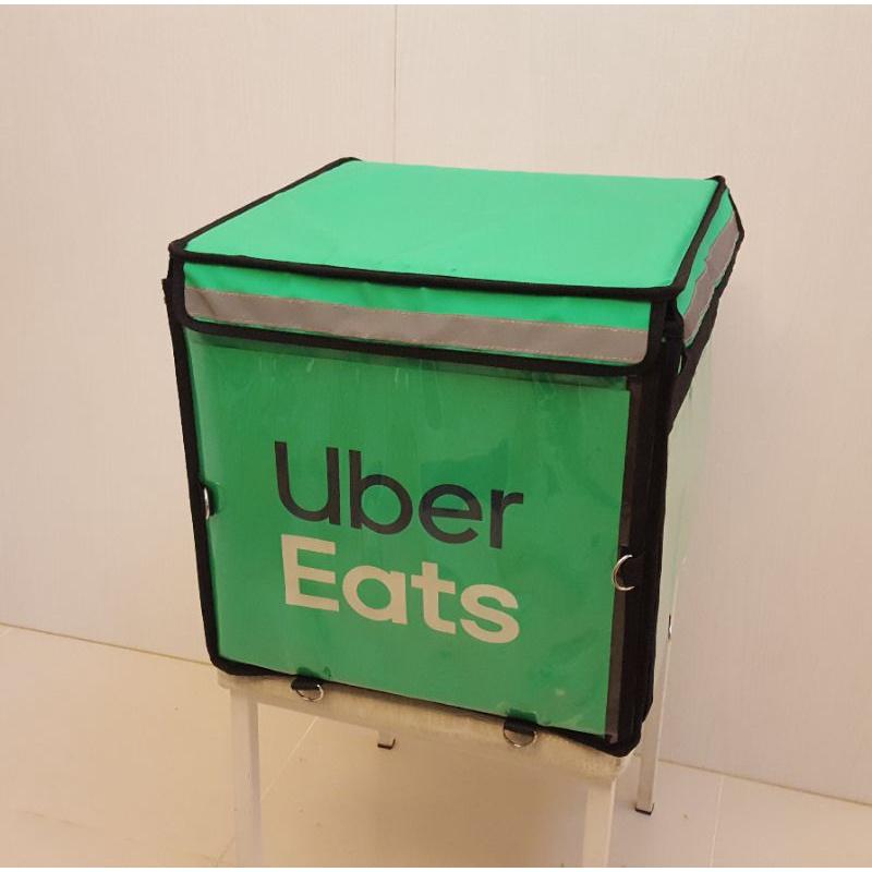 二手 UberEats 官方最新款 大保溫袋 附支架 掛勾 強化木底板 (大包 大箱 大保溫箱)