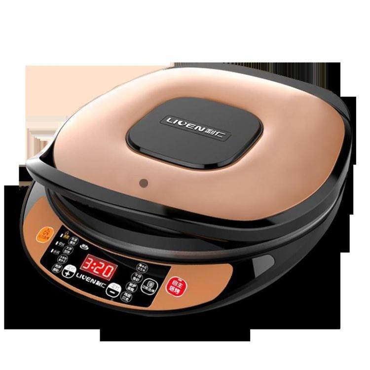 電餅鐺家用 雙面加熱自動斷電蛋糕機烙餅鍋煎餅機電餅檔 igo 極客玩家 220v