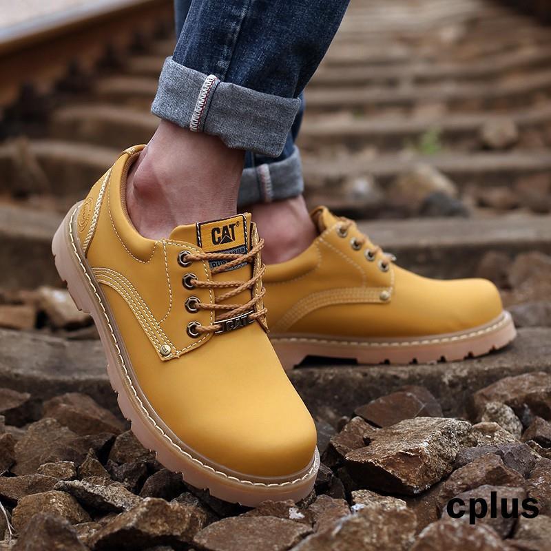 CAT 卡特 低幫馬丁靴 軍工鞋 男鞋 徒步旅行鞋 休閒鞋 女鞋真皮