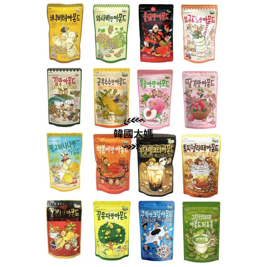 <韓國大媽>韓國Toms Gilim杏仁果 芥末/蜂蜜奶油/海苔/水蜜桃/草莓/辣雞/芒果香蕉/養樂多.等口味 大包裝