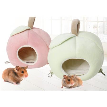🐶✨幸福培菓板橋店🌟🐱 DYY》倉鼠天竺鼠寵物窩 保暖可愛水果棉睡窩含睡墊  (鼠用專屬睡窩)