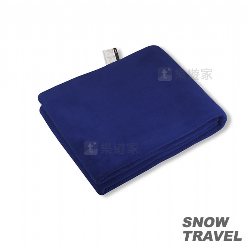 [款式:STAR017-BLU] SNOWTRAVEL POLARTEC透氣保暖旅用毛毯 (藍色)
