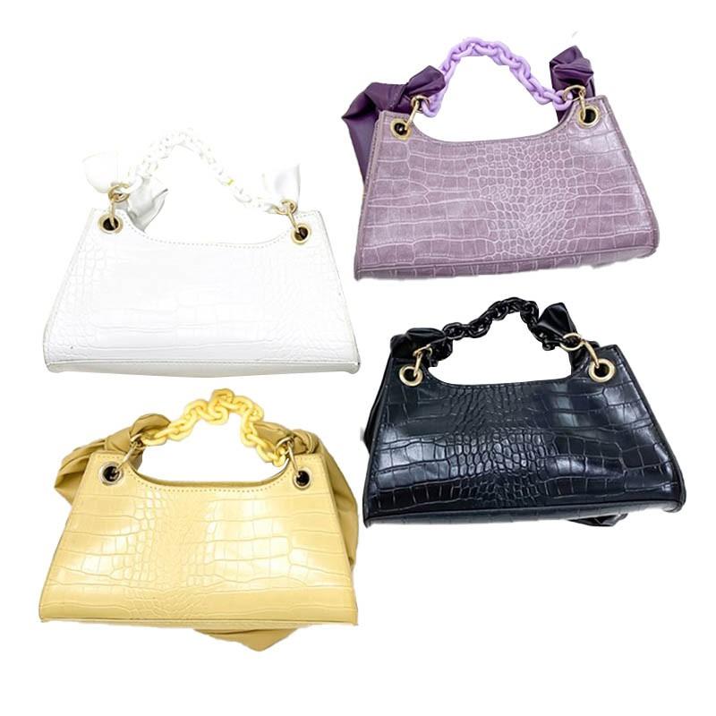 時尚女士鏈手提包時尚女性鱷魚紋單肩包 潮可 新款優惠 上新