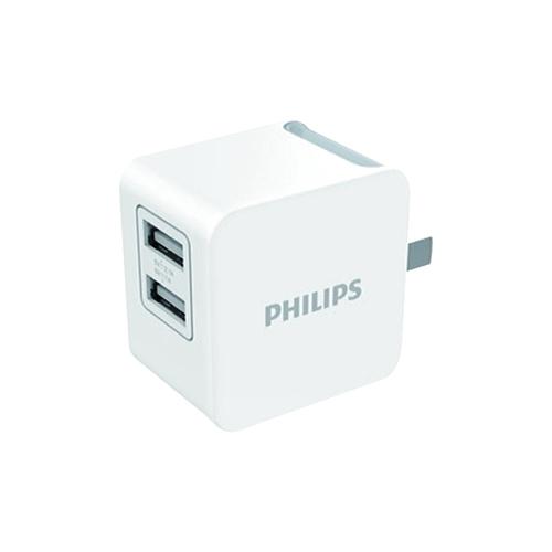 PHILIPS 飛利浦 3.1A雙 USB 快速充電器 DLP3012