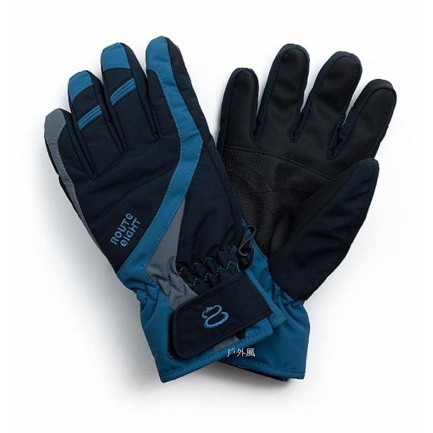 Route 8 八號公路 COURSYN防水保暖手套/觸控/黑色