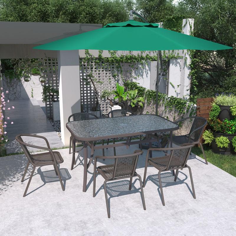 【免運費】户外阳台休闲桌椅组合庭院简约室外铁艺露天椅露台餐桌花园餐桌椅