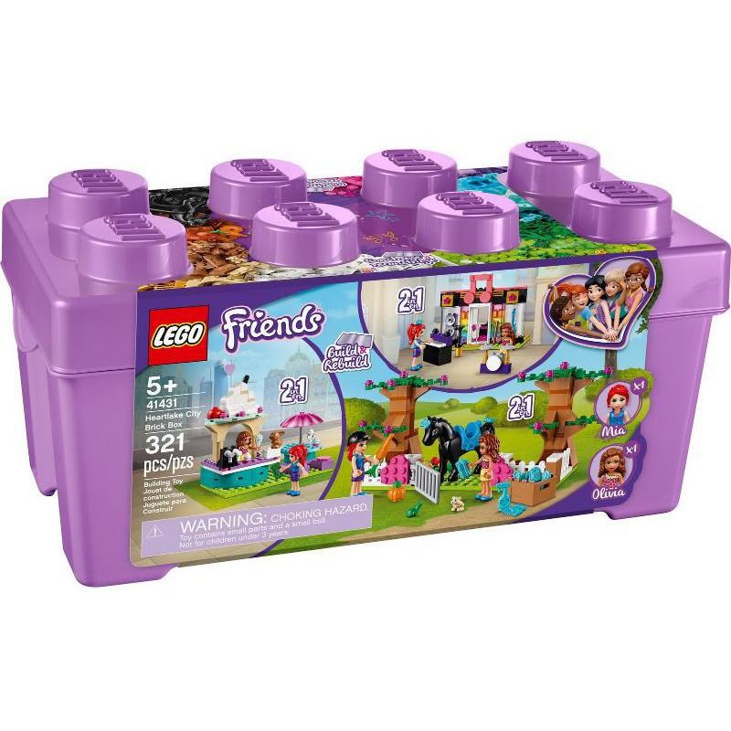 【台中翔智積木】LEGO 樂高  Friends系列 41431 心湖城顆粒桶
