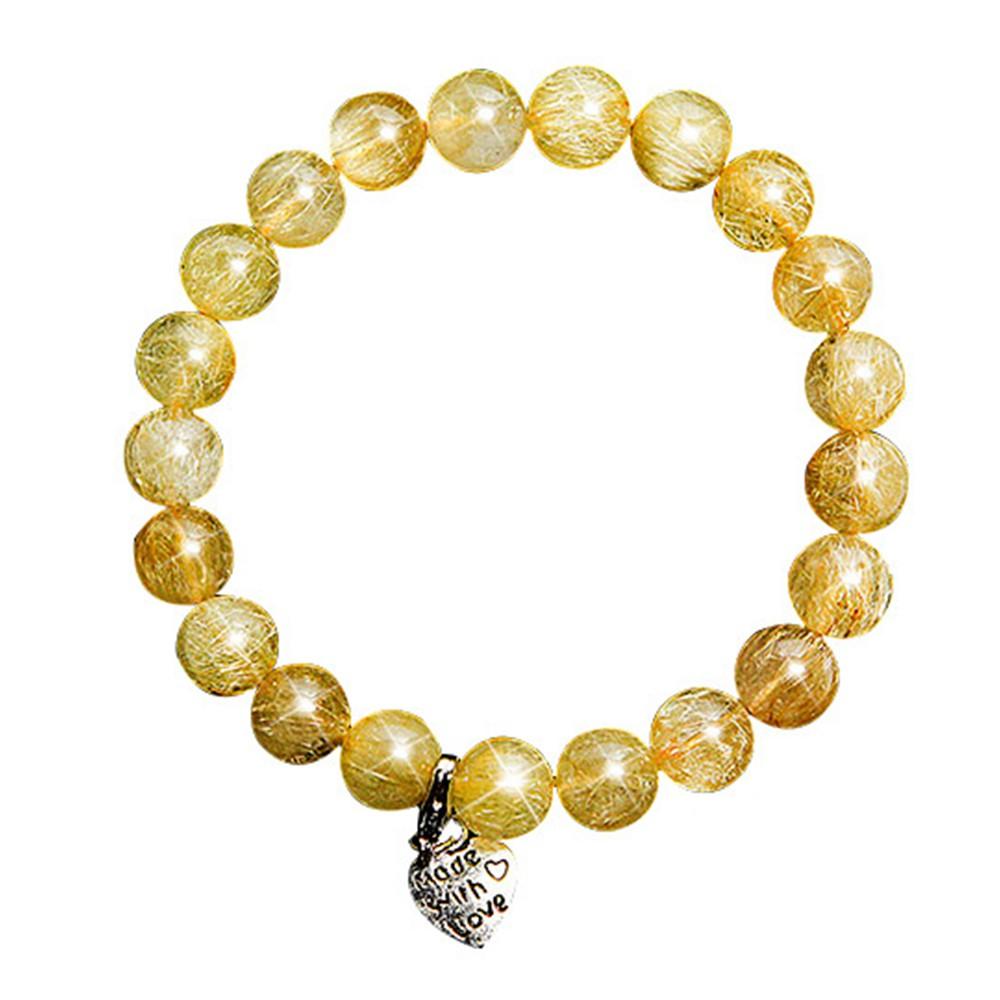 【A1寶石】雙倍吸金-頂級鈦晶圓珠手鍊