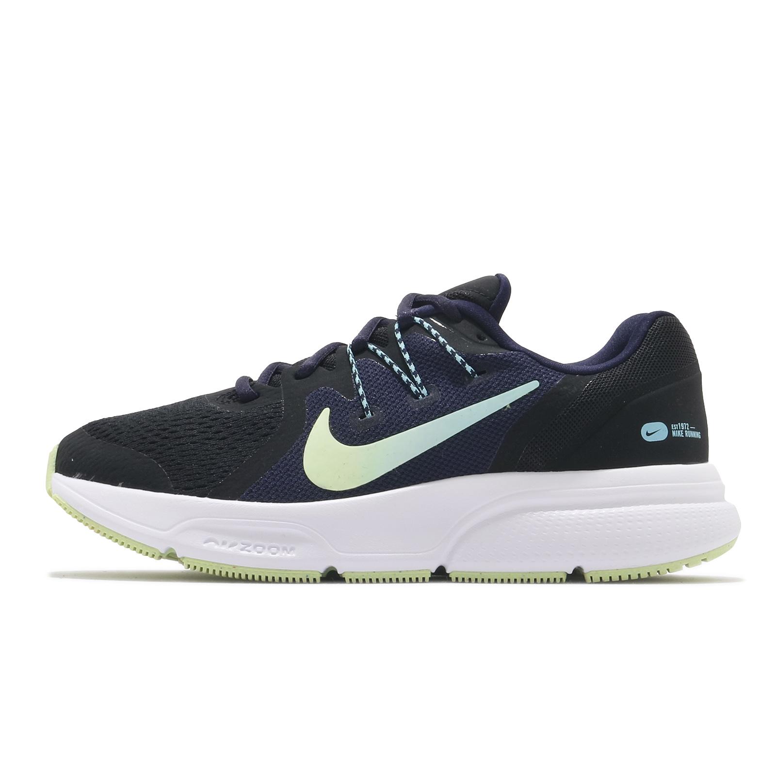 Nike 慢跑鞋 Wmns Zoom Span 3 黑 深藍 綠 漸層勾勾 女鞋【ACS】 CQ9267-013