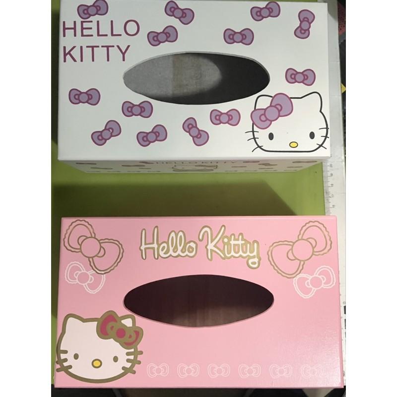 免運中 HELLO KITTY 凱蒂貓 木製面紙盒 卡通面紙盒 浪漫風面紙盒 紙巾盒 全新