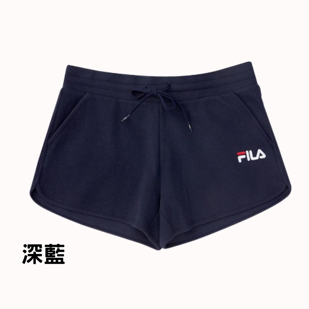 FILA 運動 短褲 潮流 女 / 深藍 5SHV-1510-NV / 運動達人