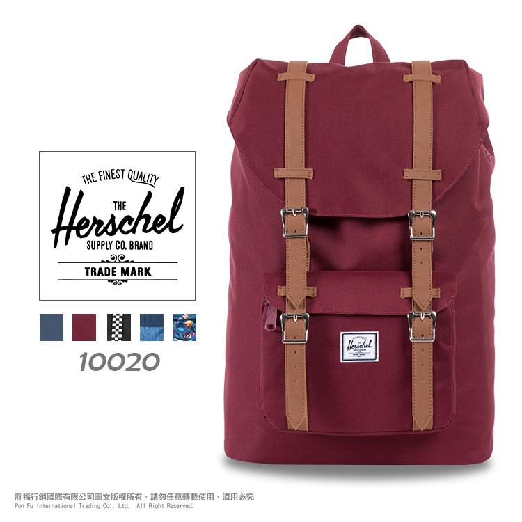 [破盤7折] 加拿大知名品牌 Herschel 帆布包 雙肩包 休閒包 束口後背包 10020 輕量 大容量 透氣背帶