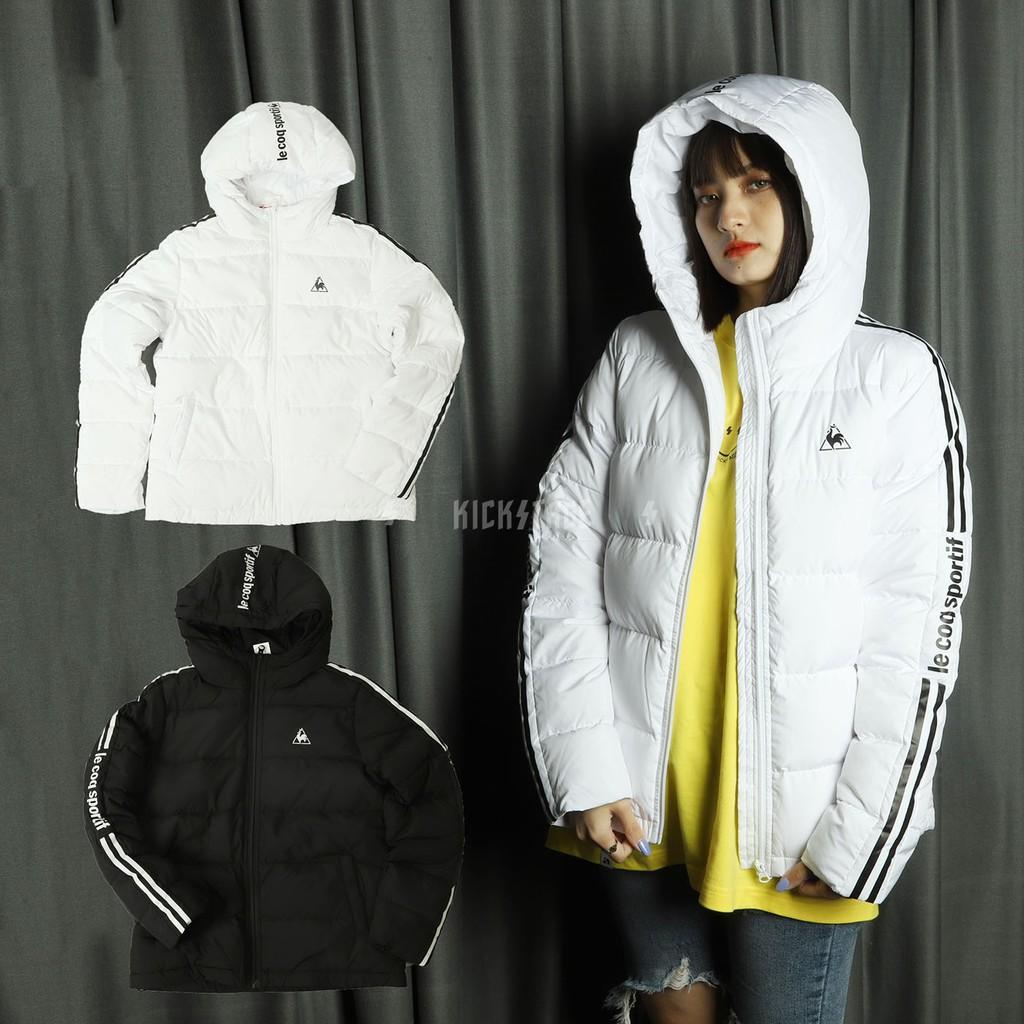 KS▸男女款 LE COQ SPORTIF 白色 黑色 長袖 羽絨外套 保暖 外套 法國 公雞【LWM639059002