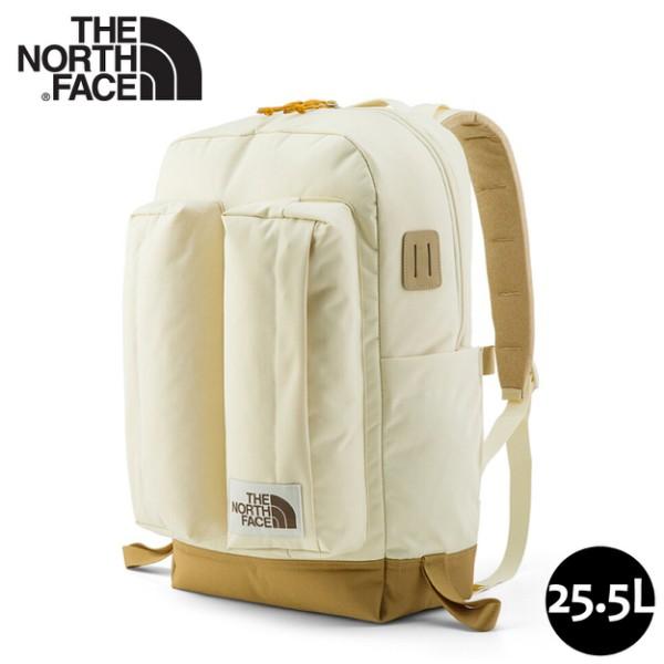 【The North Face 25.5L 經典懷舊後背包《淺卡其/棕》】3KY4/舒適防護休閒後背包/多功能休閒背包