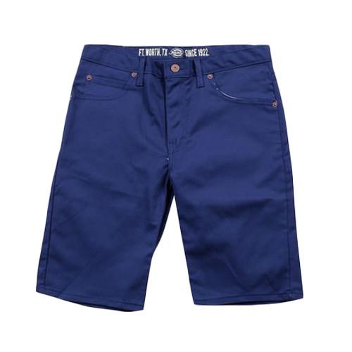 【DICKIES】WR805 膝上合身窄版 工作短褲 (藍色 EL) 化學原宿