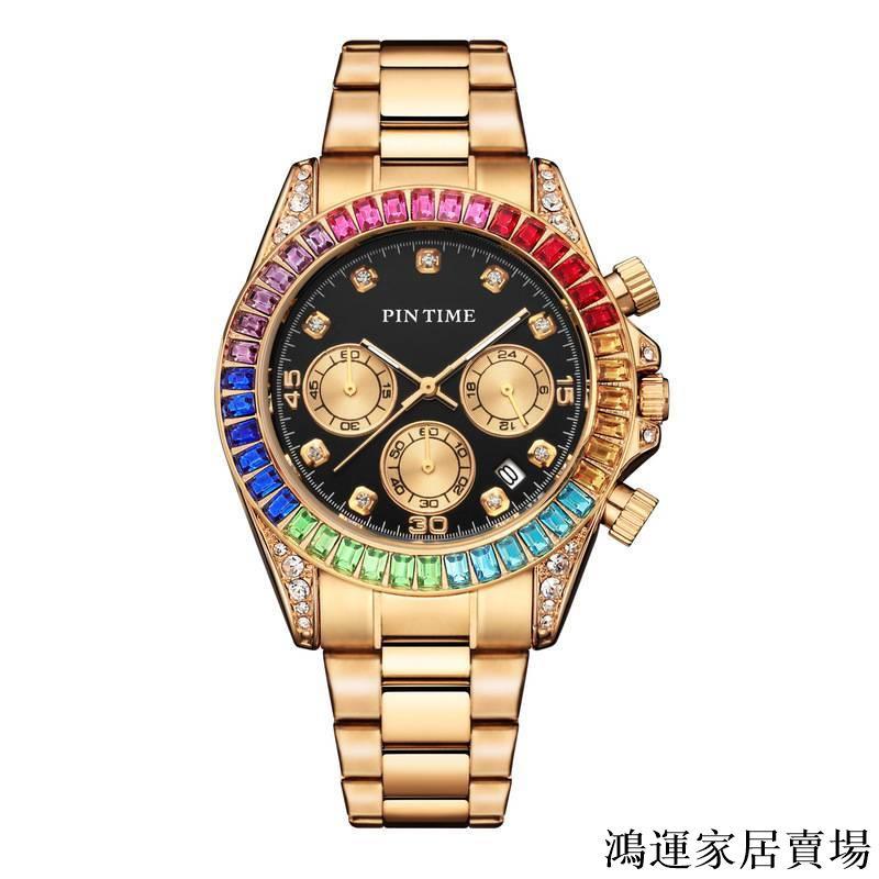 PINTIME/品時新款手錶跨境時尚鋼帶手錶男女錶支持代發廠家貨源#鴻運家居賣場