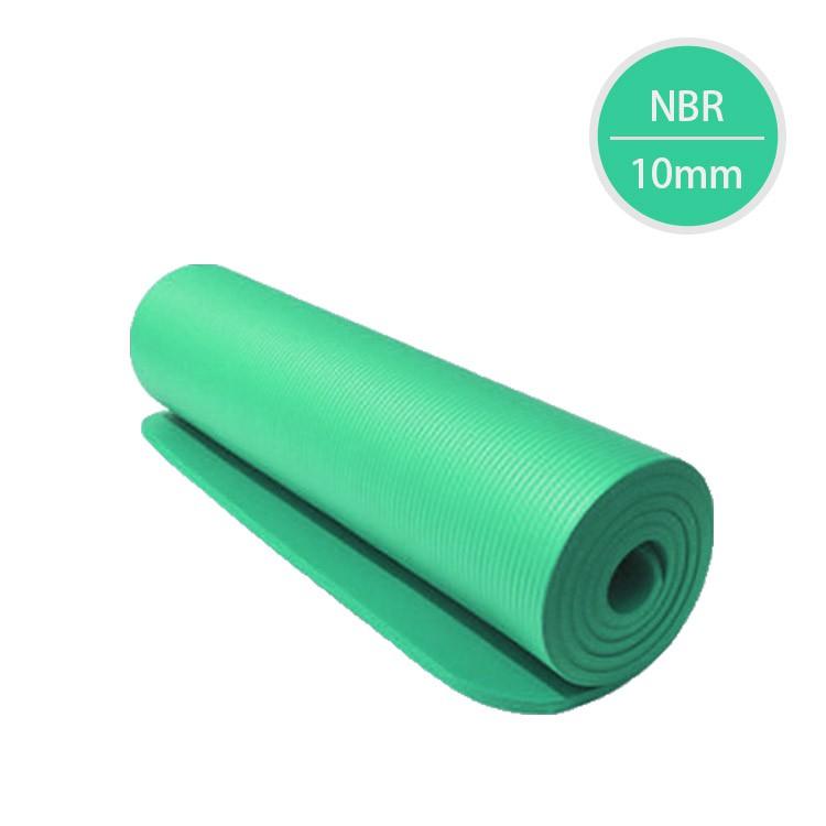 NBR高密度瑜珈墊(10mm)-湖綠色(附綁帶+背帶)