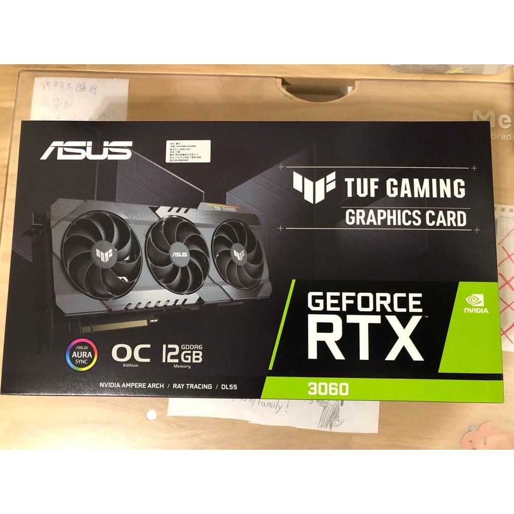 【可刷卡分期】顯示卡 NVIDIA ASUS TUF Gaming RTX 3060 OC 12G 三風扇 全新現貨