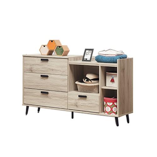 Boden-米菲5尺四斗櫃/右開放四抽櫃/置物櫃