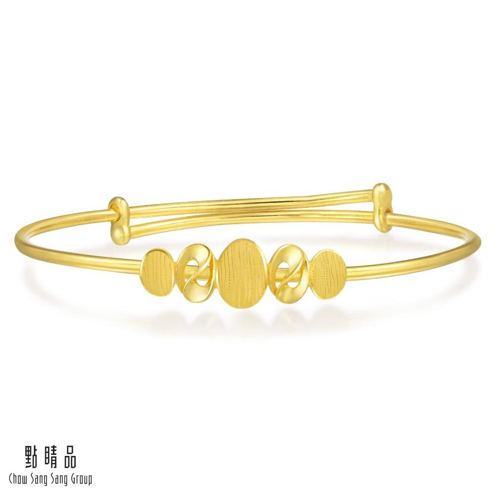 點睛品 日常穿搭黃金手環/手鐲_計價黃金