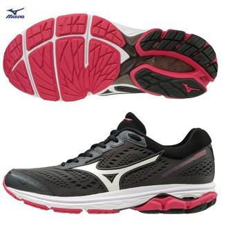 Mizuno 美津濃 WAVE RIDER 22 女慢跑鞋(黑*紅)J1GD183171(18-11-8)