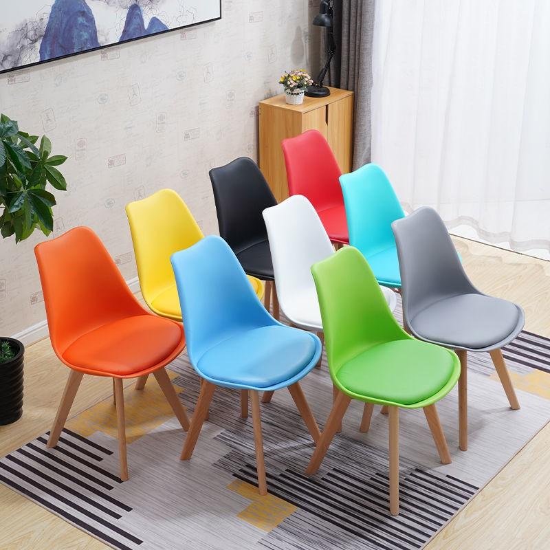 [現貨]成人靠背網紅椅現代簡約北歐實木伊姆斯塑料椅餐椅腦辦公洽談椅 伊姆斯椅 簡約復刻椅 吧檯椅 腦椅 會議椅 餐椅