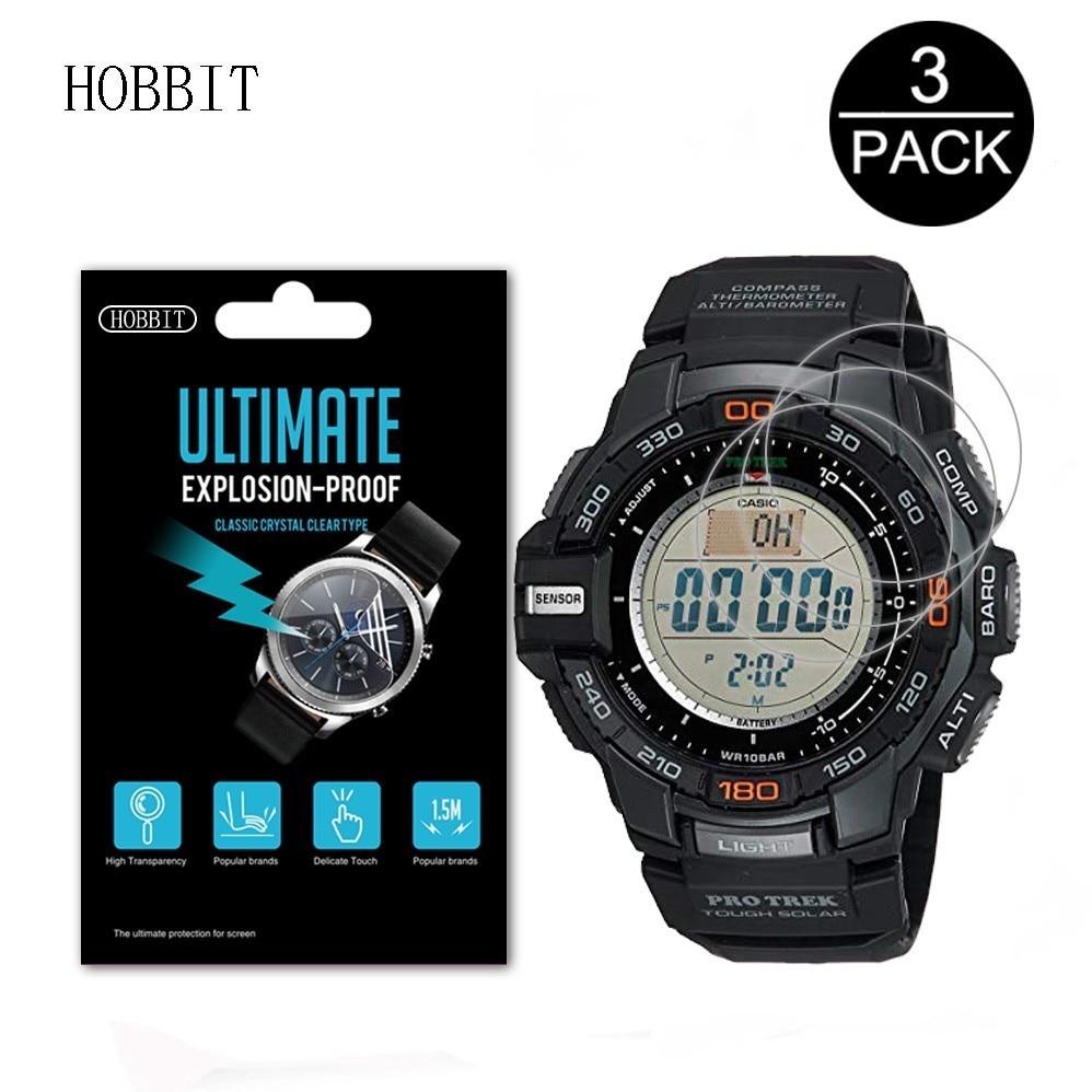 對於卡西歐男士Trek PRG-270 PRG240T 300 650Y 600 600Y PRG-300手錶屏幕膜