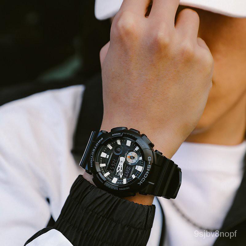 CASIO/卡西歐/G-SHOCK雙顯時尚運動防水電子手錶男錶GAX-100B-1A