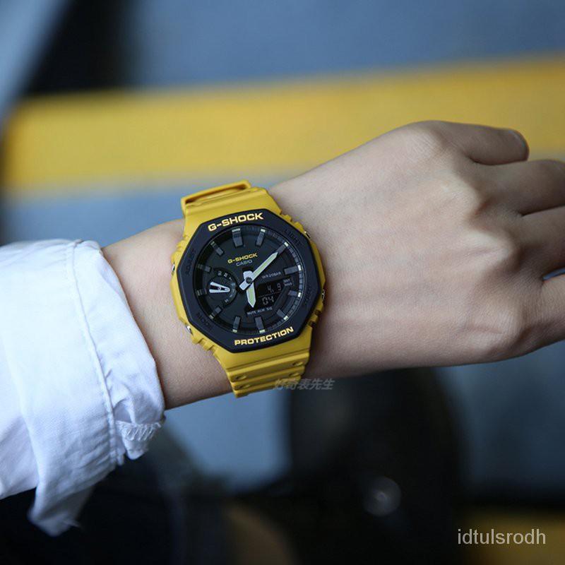 速遞卡西歐新款橡樹八角碳纖維運動手錶GA-2110SU-9A 3A GA-2100SU-1A秋季夏季新品 ND76