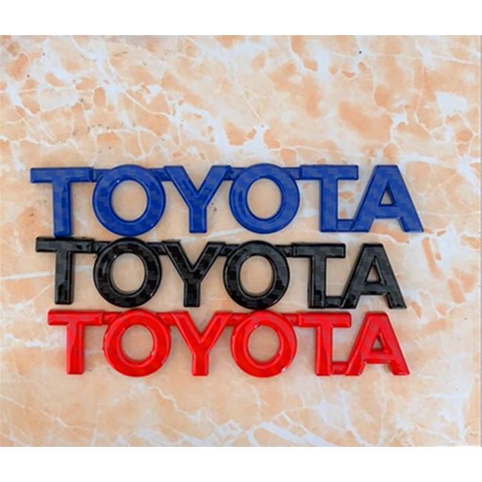 豐田TOYOTA英文字母車標 尾箱標 車標貼 車身貼 碳纖 VIOS ALTIS Camry TOYOTA卡夢 碳纖黑