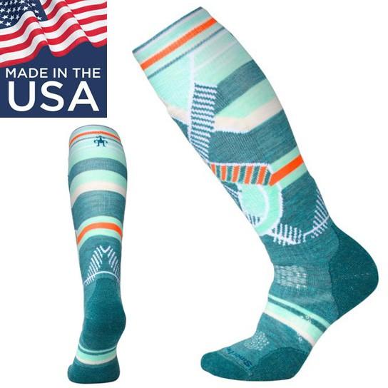 【Smartwool 美國】PhD Ski 滑雪襪 美麗諾羊毛襪 雪襪 登山襪 女款 湖水綠 (SW001002A19)