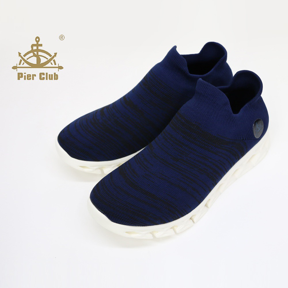 SK 鞋子大王 Pierclub 4.0經典套式休閒鞋(藍)