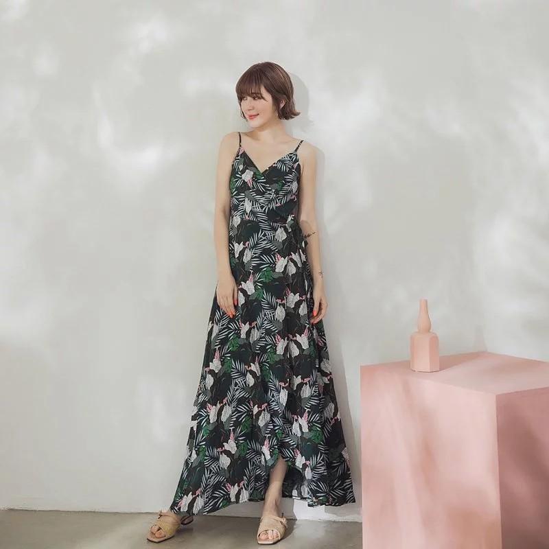 [ASPEED] 棕櫚樹的邂逅女神開叉洋裝