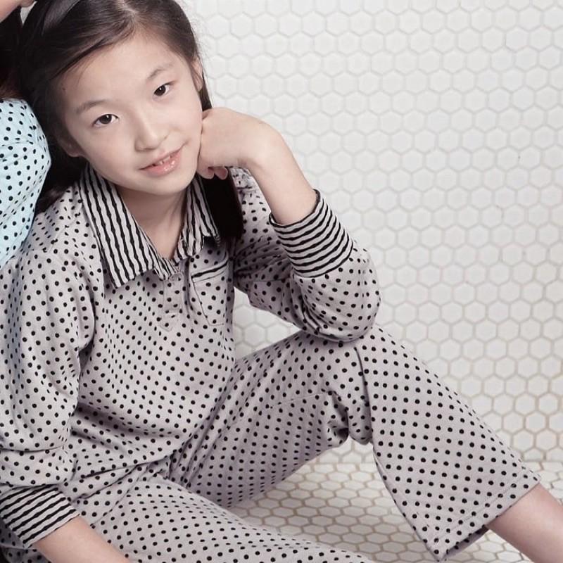 RoseMaid 羅絲美 - 點點樂趣童睡衣 - 點點灰【12495-96】