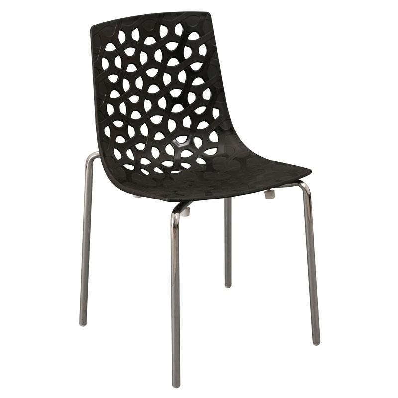 【C1962-06】PP塑鋼造型椅(9108)(黑)