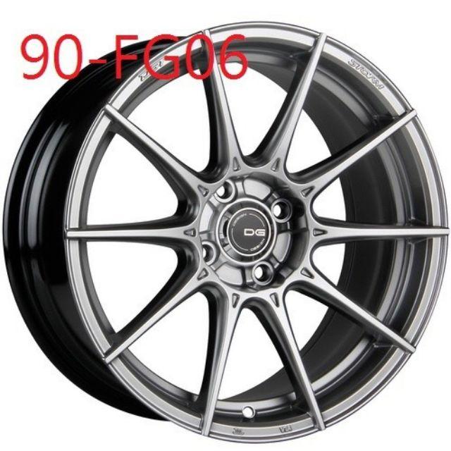 DG FG06 17吋4/100高亮銀旋壓輕量鋁圈~FIT YARIS KICKS(起標價非實際售價 請洽詢)