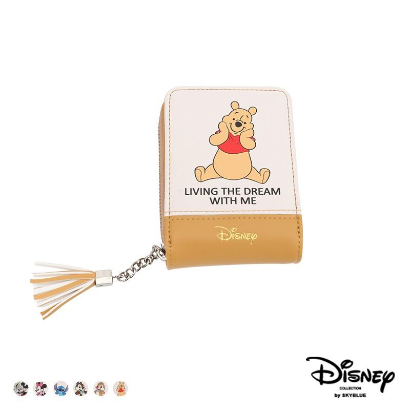 天藍小舖-迪士尼系列可愛人物皮革風琴式票卡包/名片夾-共6色-A09090402